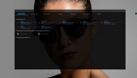 Windows 10 Ultra minimal dark theme by Mykou