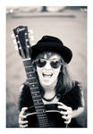 Girl with a black guitar 03