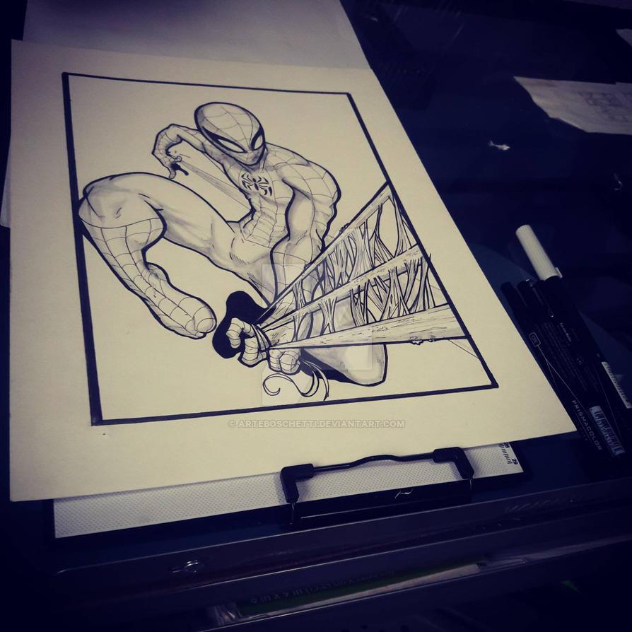 SpiderMan Splat. WIP by Boschetti