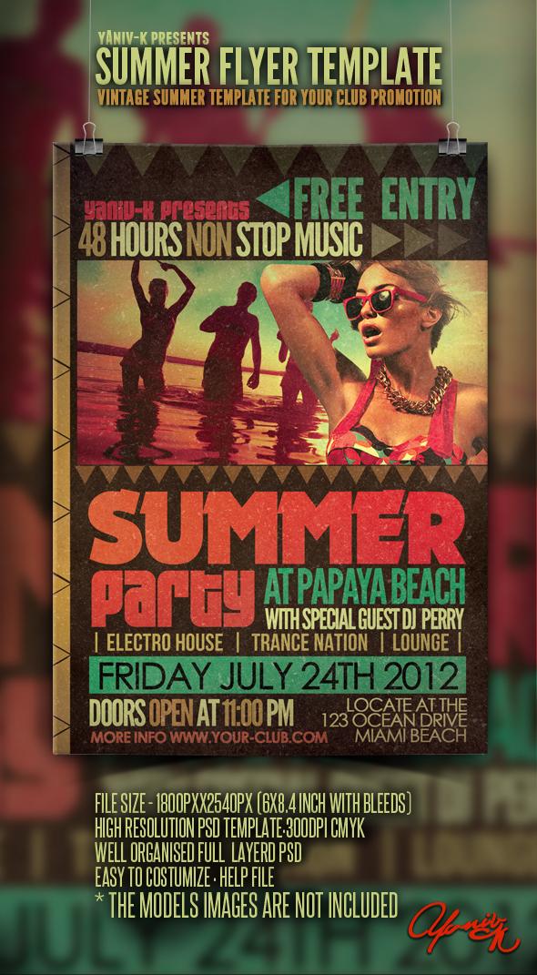 Vintage Summer Flyer Template by yAniv-k