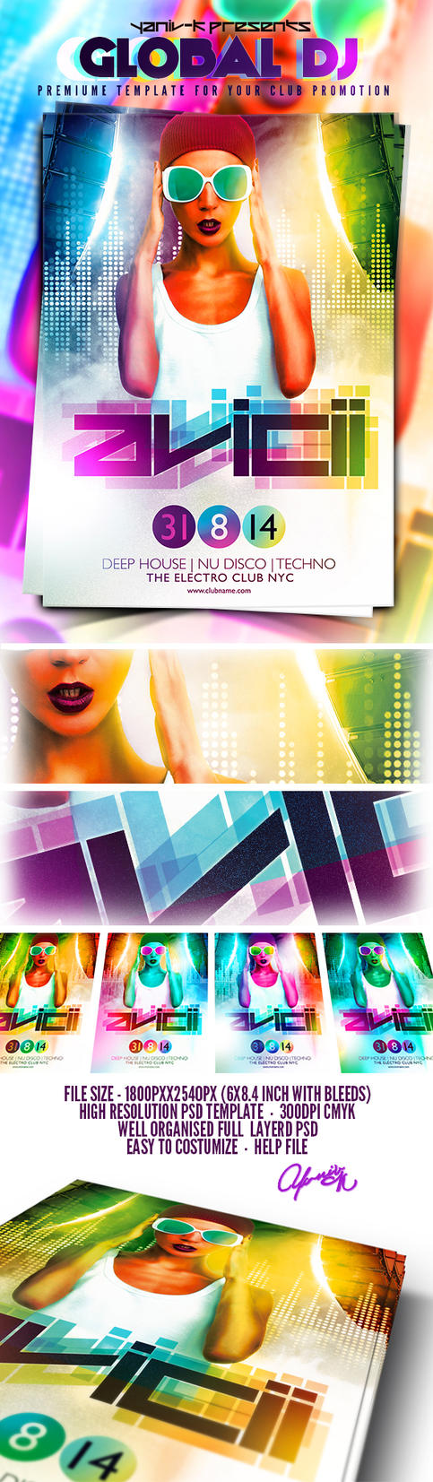 Global Dj PSD Flyer Template by yAniv-k