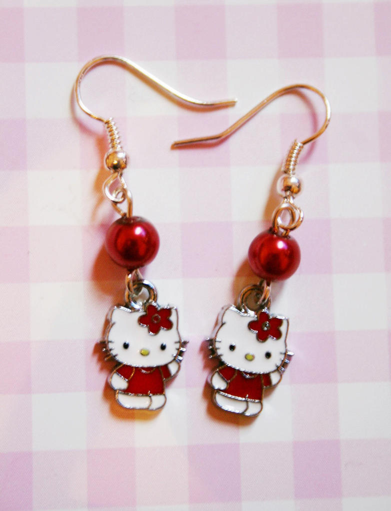 Hello Kitty earrings by HelianthusMay on DeviantArt