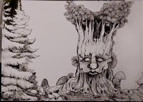 Monochrome Forest Scenewip01