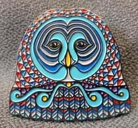 Owl Face Pin - Series 1