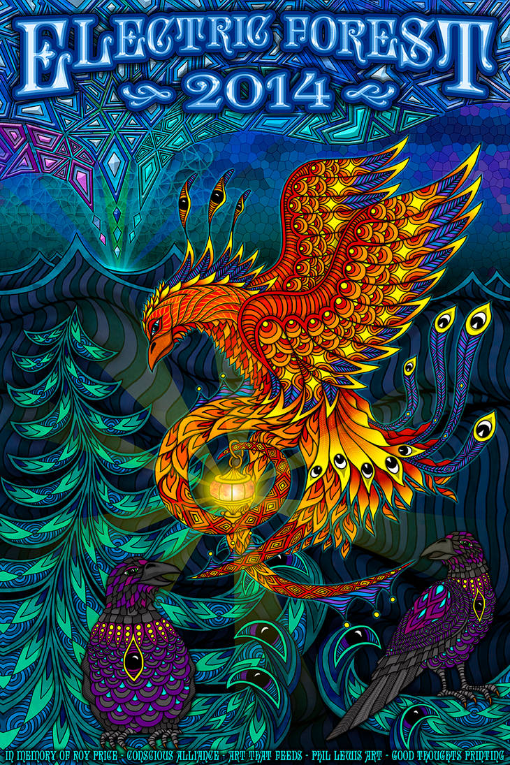 Electric Forest 2014 - Conscious Alliance Poster by PhilLewis