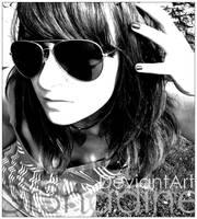 Retro-Glasses 05 noir et blanc by gr3nadine