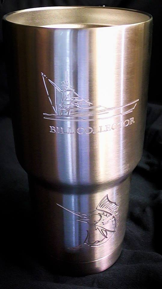 Finished SS tumbler by WoodsMachine
