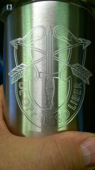 Army Special Forces engraved Ozark tumbler