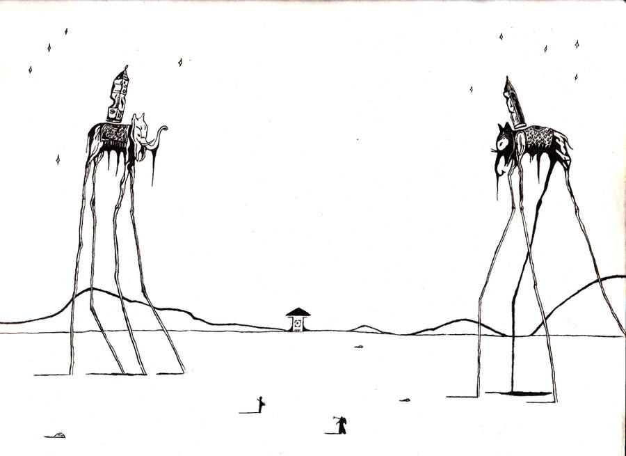 Salvador Dali Elephants by Spectre2579 on DeviantArt