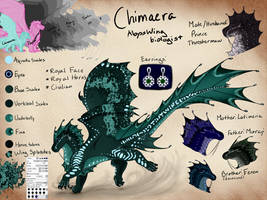 Chimaera OC Ref by light-star-does-art