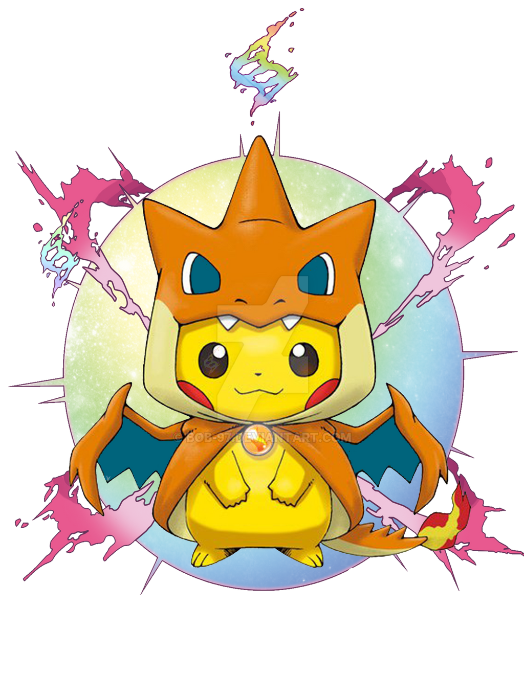 Pikachu Mega Charizard By Bob 97 On Deviantart