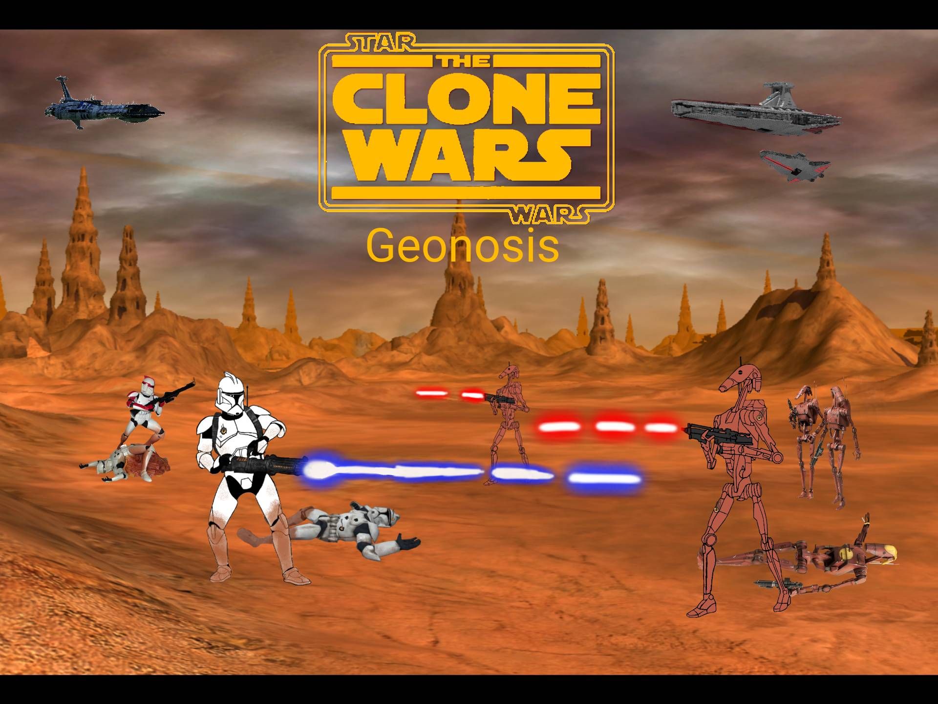 Star Wars The Clone Wars The Battle Of Geonosis By Panpanman43 On Deviantart