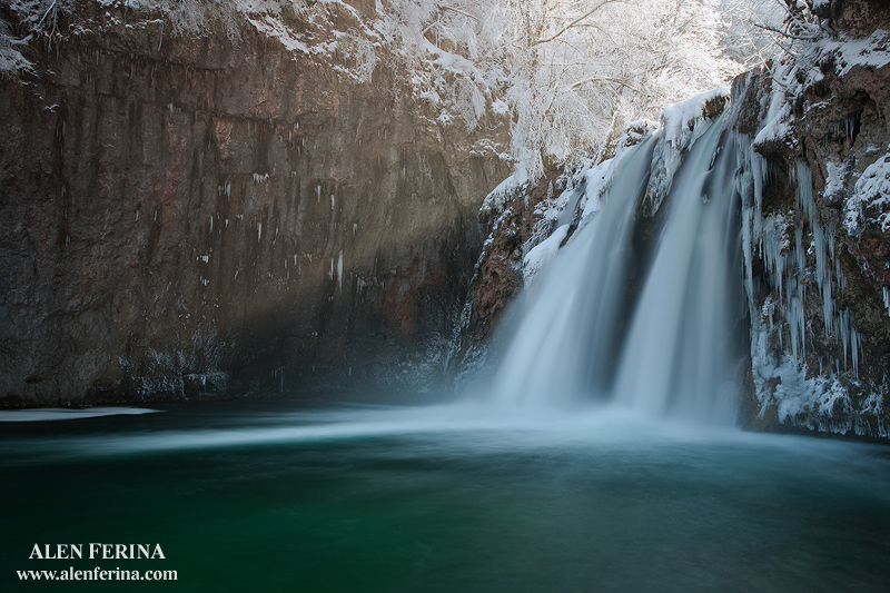 Korana river in winter, Croatia by Febo-theRealOne