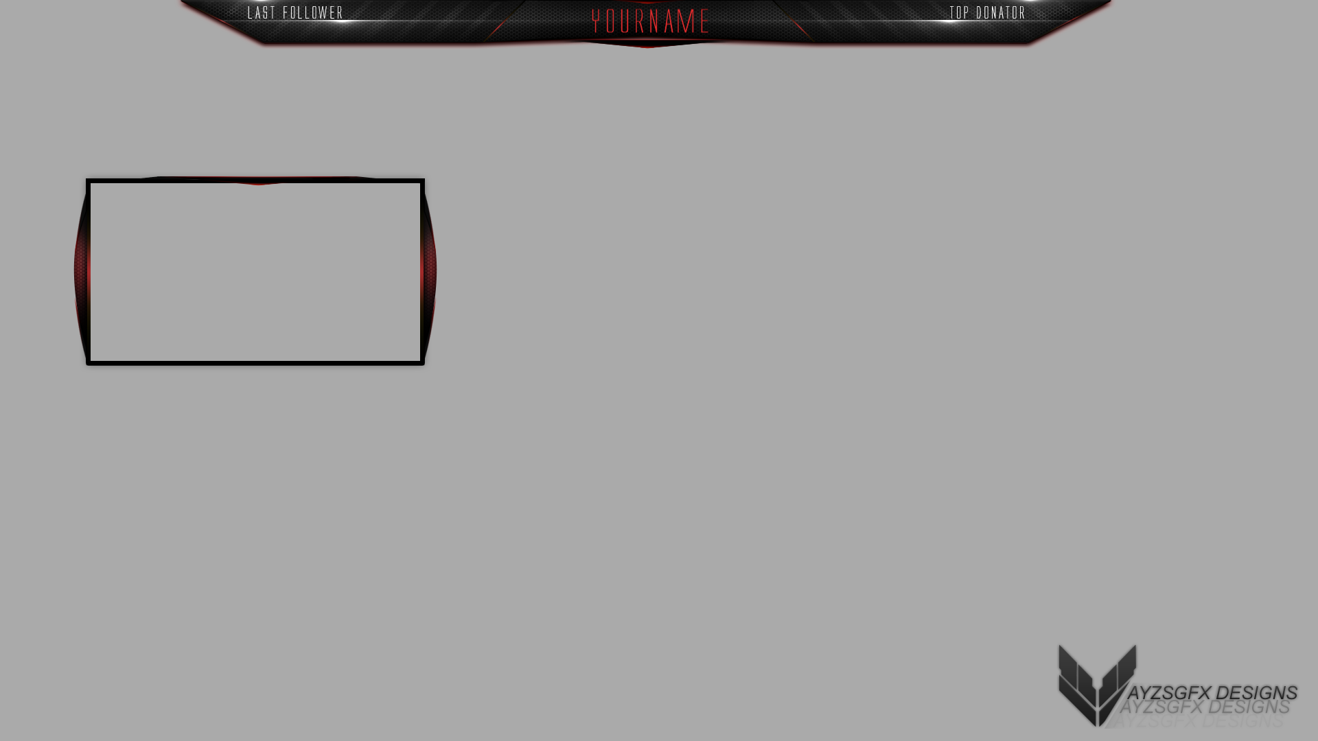 Overlay free twitch template 1 by ayzs on deviantart for Free twitch overlay template