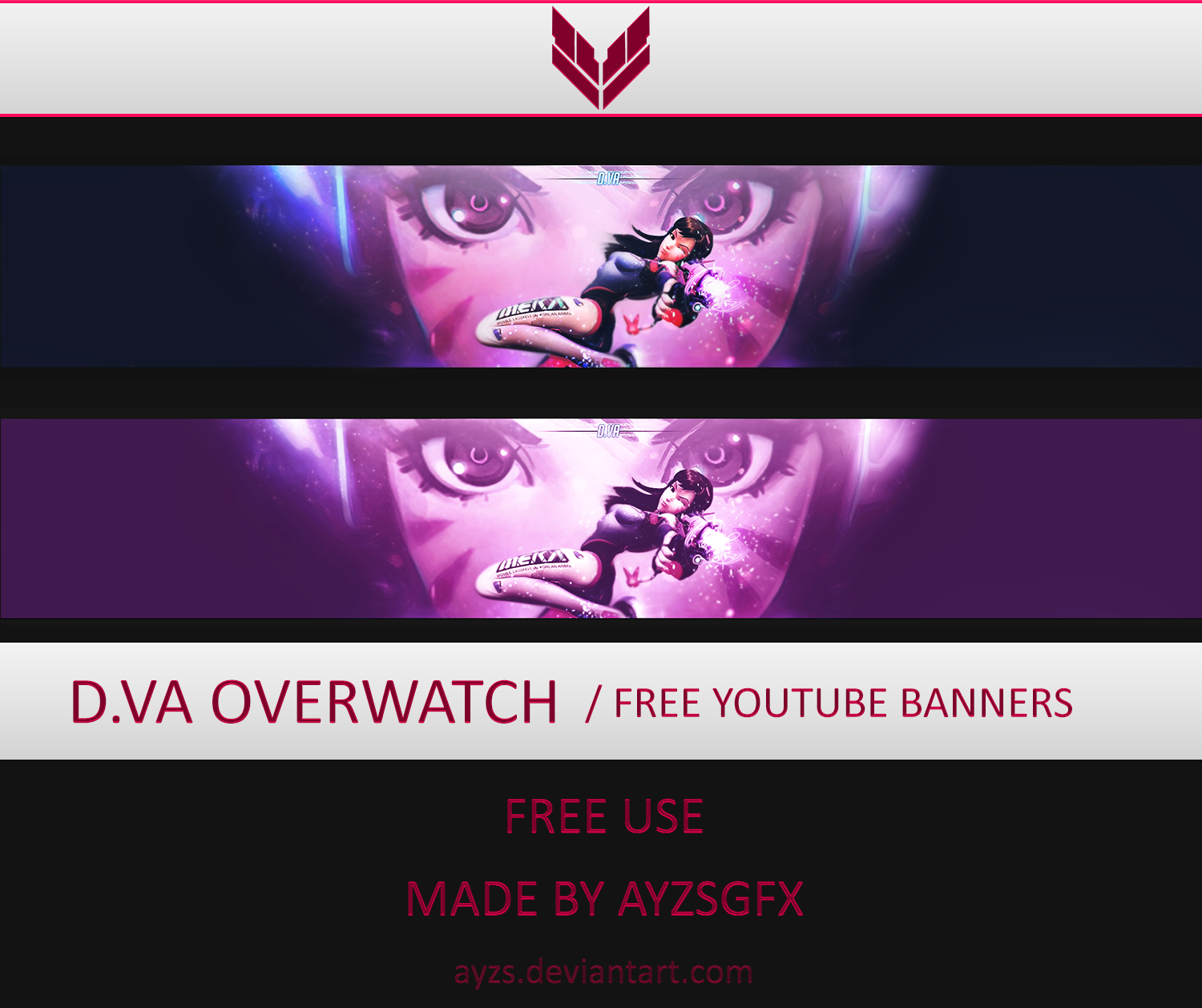 D Va Overwatch Free Banner Template By Ayzs On Deviantart