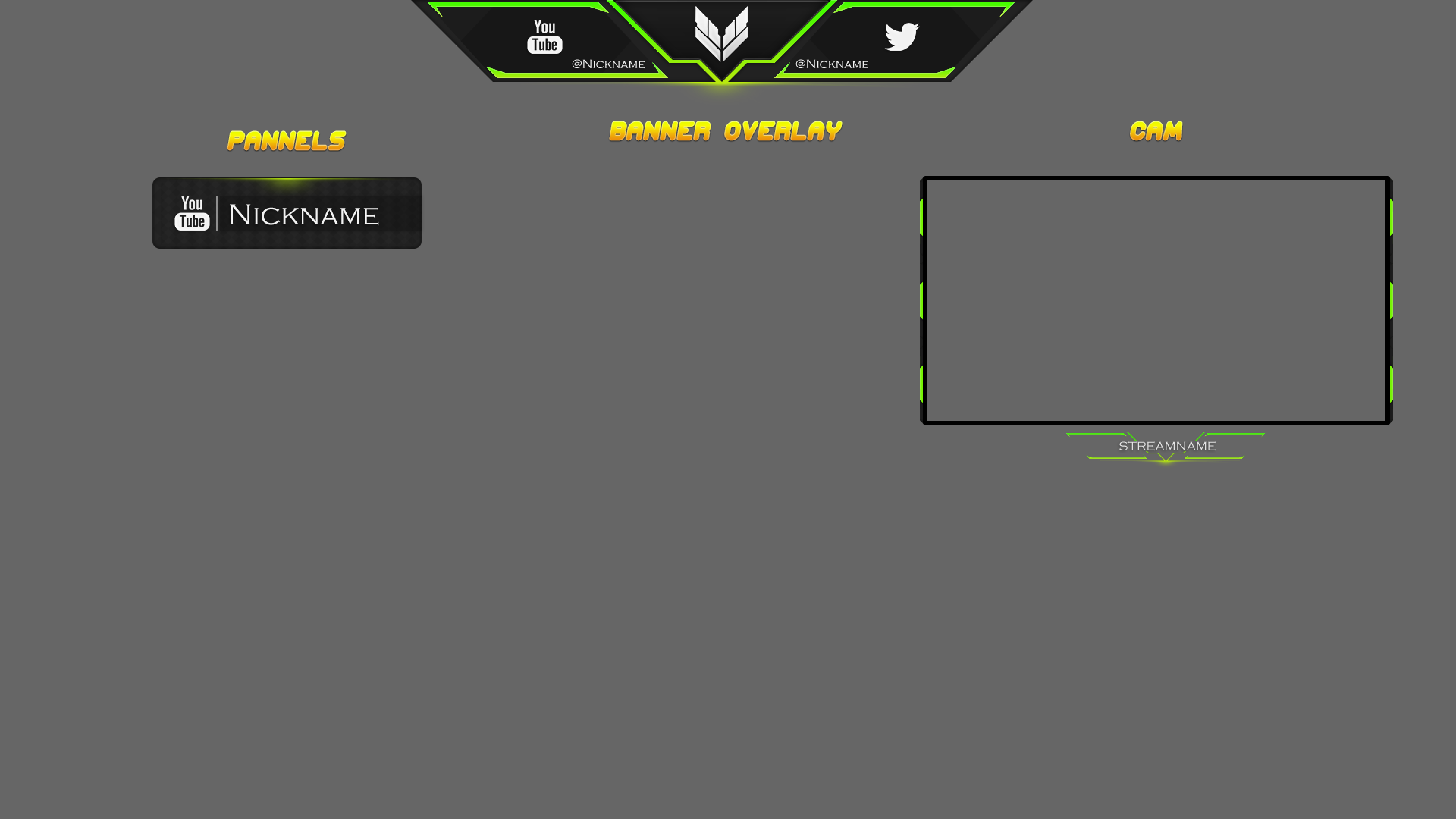 Twitch overlay template download gimp for free