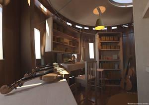 Luthier Workshop-Interior
