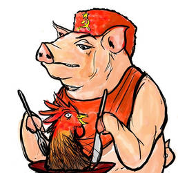 Pig with a Boy's Face