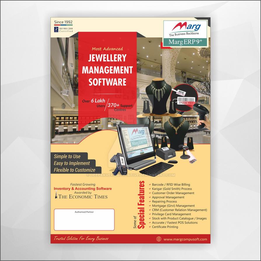 Corporate Jewellery Software Flyer Design by Deepakvermacreative