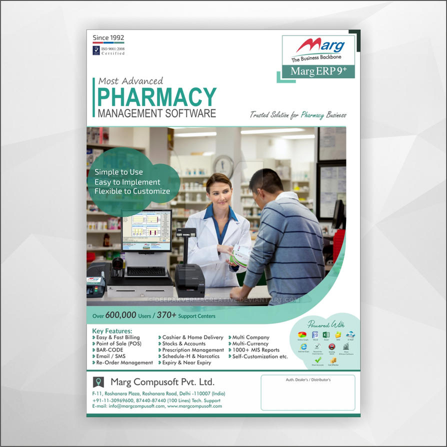 Corporate Pharmacy Software Flyer Design by Deepakvermacreative