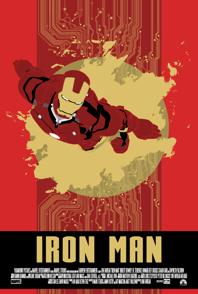 Iron man movie poster by petemag on deviantart for Posters art prints