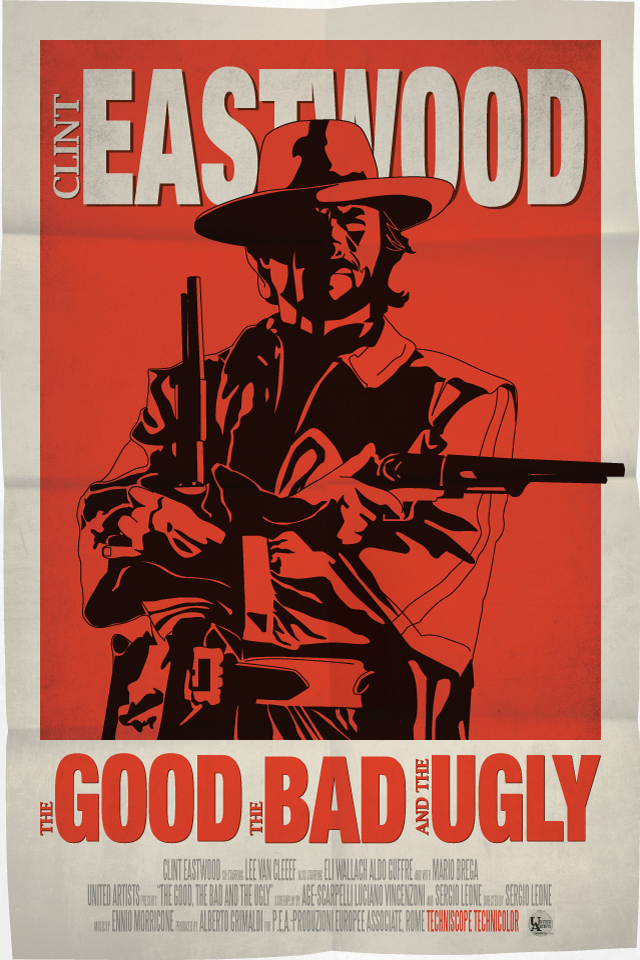 the good the bad and the ugly movie poster by petemag on