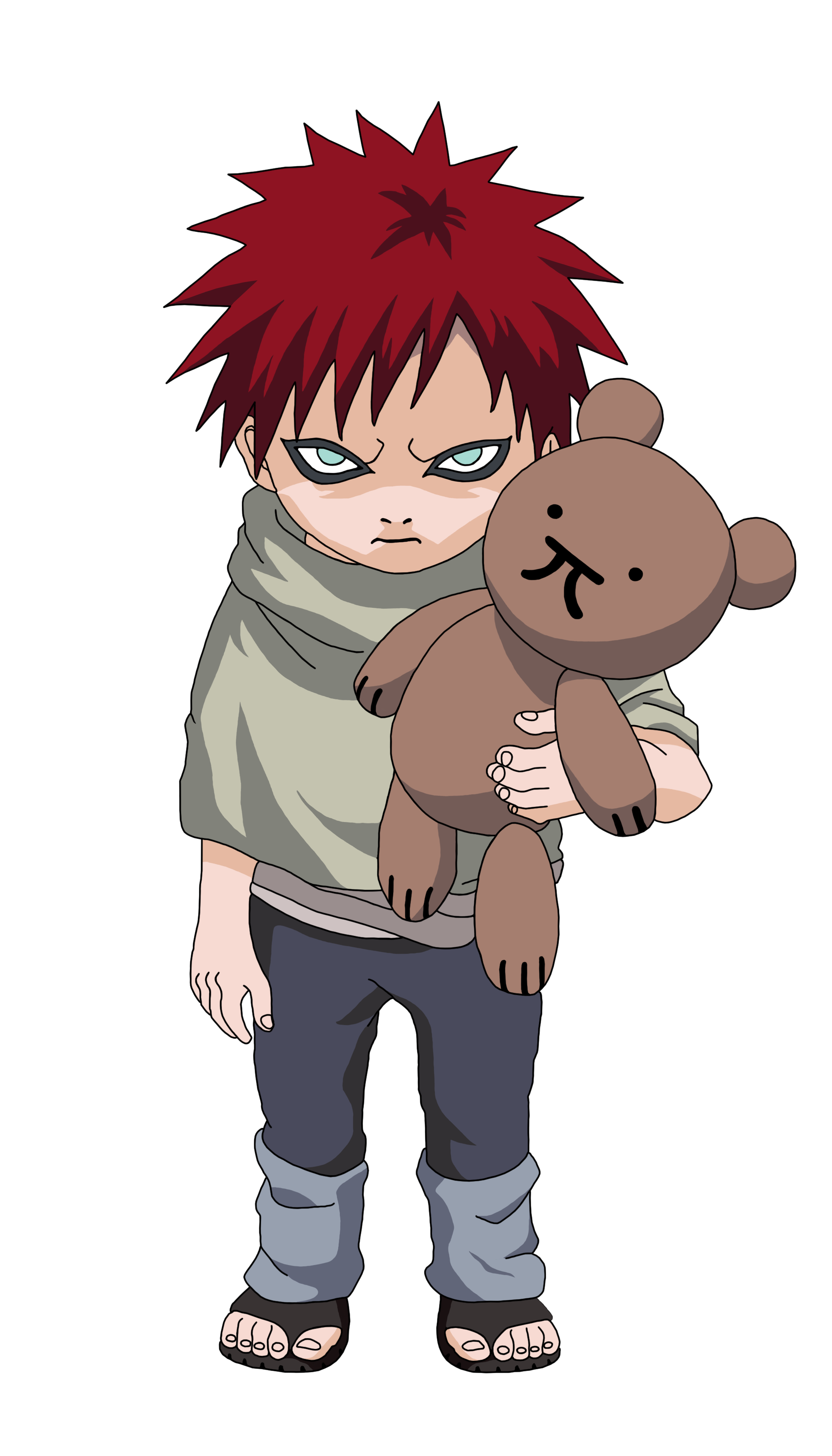 Render Childhood Gaara by Marcinha20 on DeviantArt Gaara Chibi Wallpaper