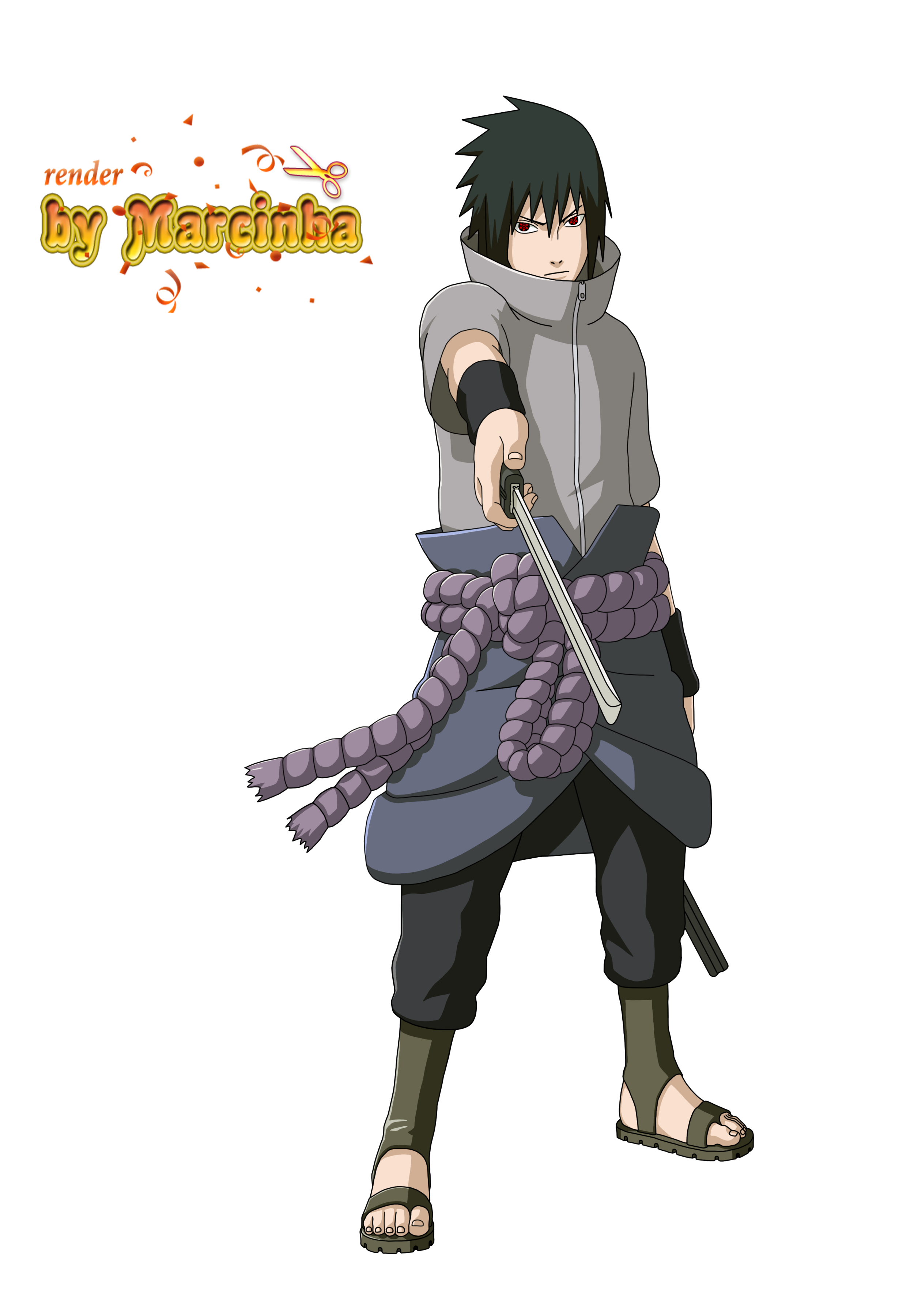 Sasuke Render 2v by BelllPhegor on DeviantArt  |Sasuke Kirin Render