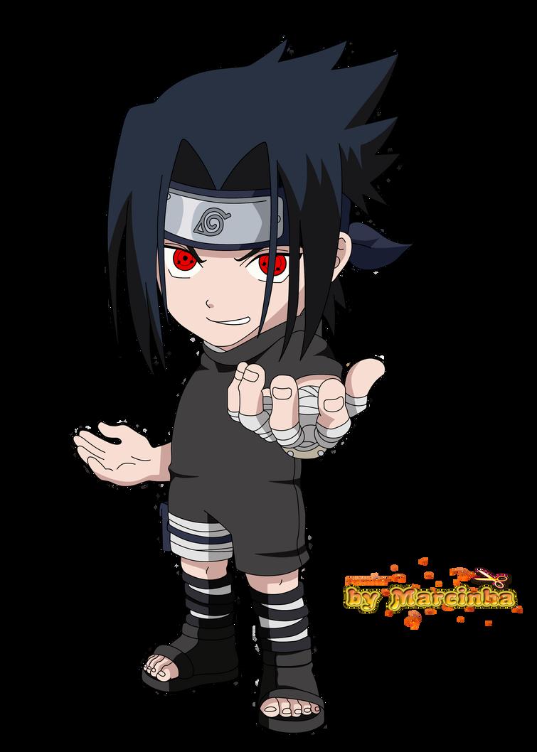 chibi sasuke uchiha sharingan by marcinha20 on deviantart