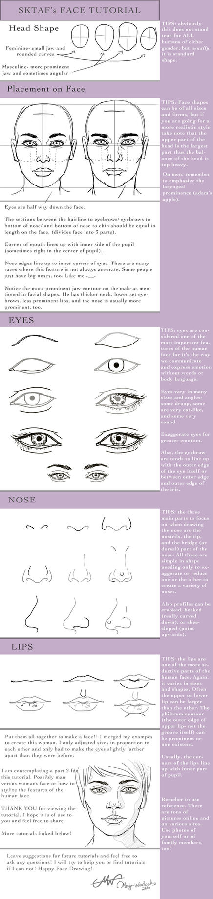Face Tutorial by SKTAF