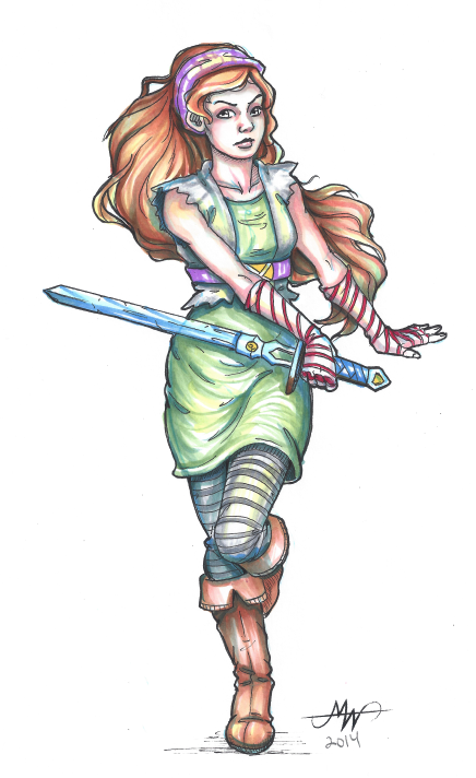 Pirate Girl- Copic Doodle by SKTAF
