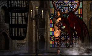 A sad DarkAngel By Almeidap by Dark-Vanessa