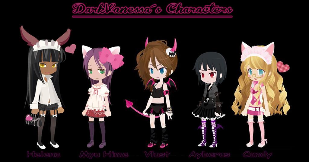 .:DarkVanessa Characters:. by DarkVanessaLusT