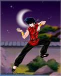 Ranma doing Katas -commish-
