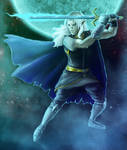 DnD Commission - Moonlit Dhampir Prince