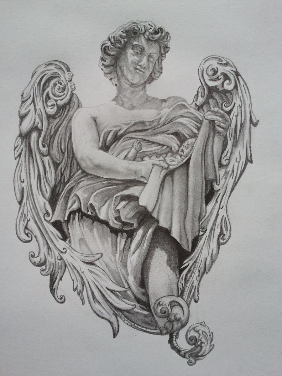 angel tattoo design by callum ogborn on deviantart. Black Bedroom Furniture Sets. Home Design Ideas