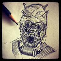 Tusken Raider - Daily Sketch by Geekincognito