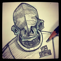 Admiral Ackbar - Daily Sketch by Geekincognito