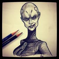Asajj Ventress - Daily Sketch by Geekincognito