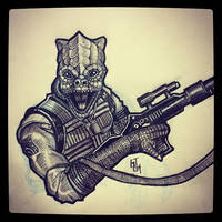 Bossk - Daily Sketch by Geekincognito