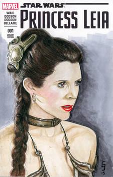 Slave Leia Sketch Cover