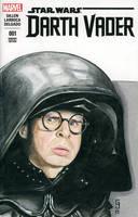 Dark Helmet Sketch Cover by Geekincognito