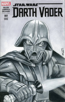 Concept Art Darth Vader Sketch Cover