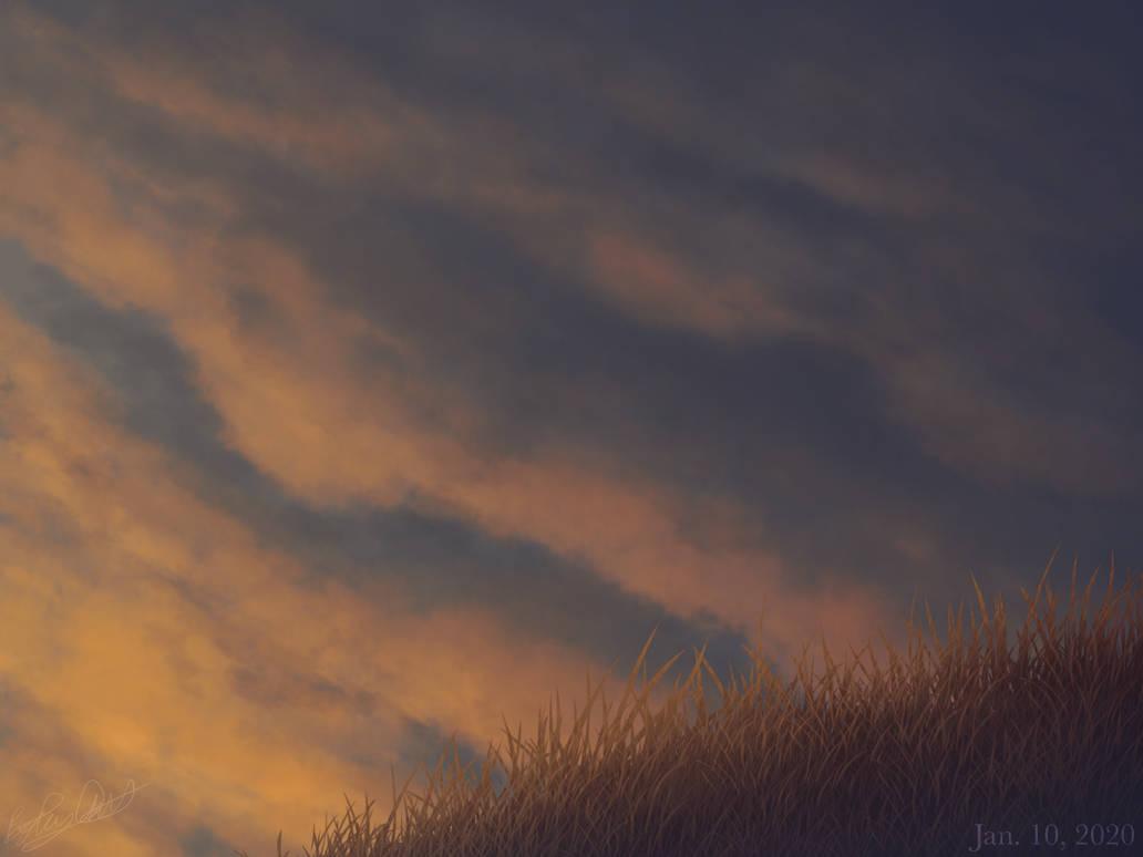 Coming Storm at Sundown