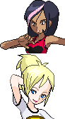 Vs. Sprites - Lydia and Serena by juanito316ss