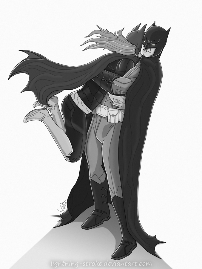 Batman and Batgirl by Lightning-Stroke