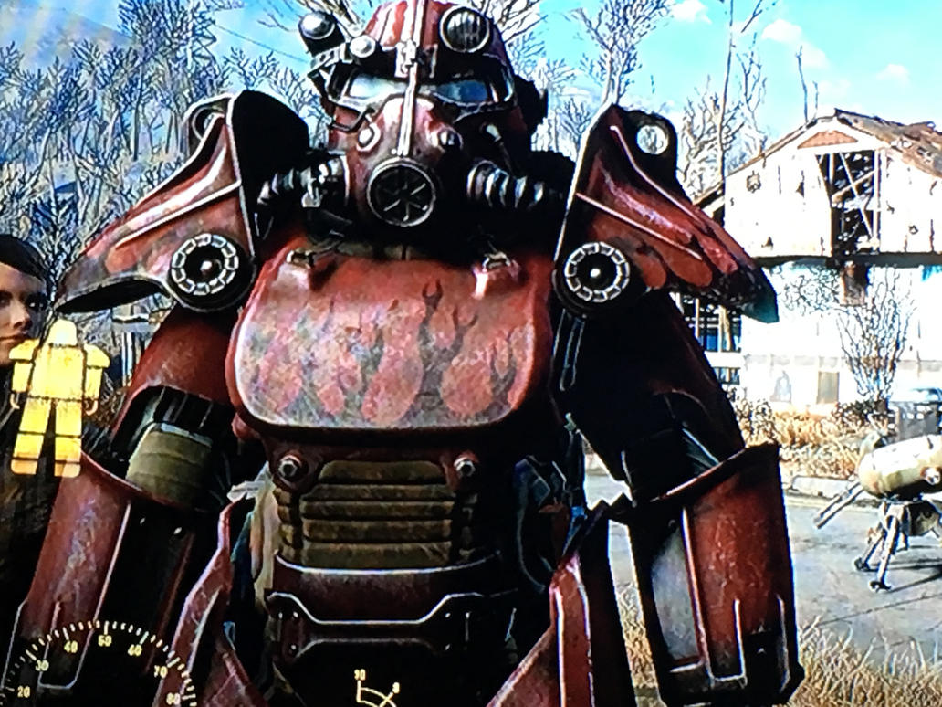 Customized T-45 Power Armor by Gariandos