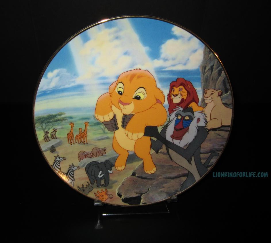 lion king bradford exchange plate 1 circle of life by. Black Bedroom Furniture Sets. Home Design Ideas