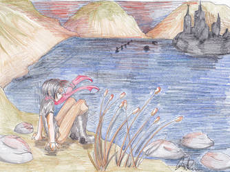 Regulus sitting by the Black Lake by Zayhad