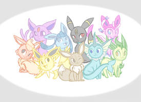 Eeveelutions Free Commission by JaidenAnimations